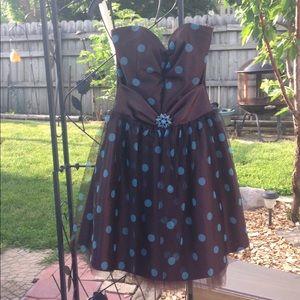 Jessica McClintock strapless brown prom Dress